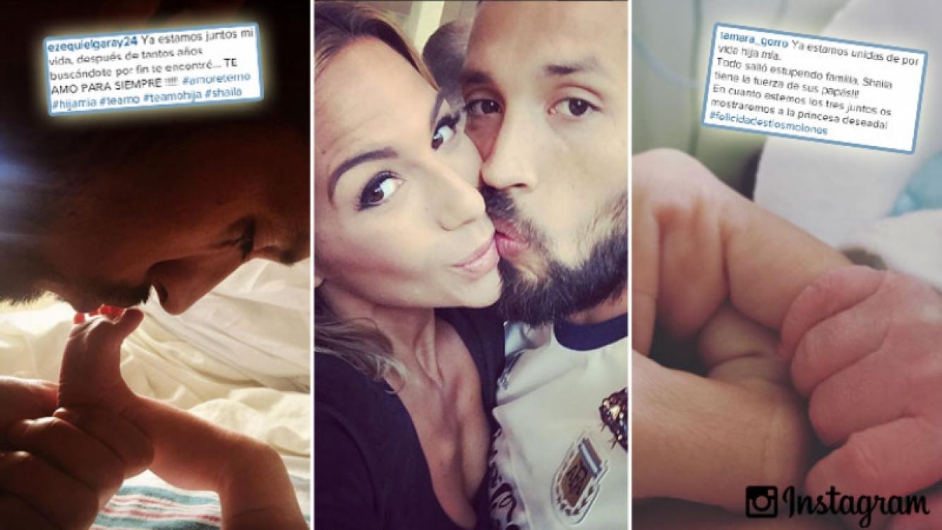 Ezequiel Garay y Tamara Gorro, las tiernas primeras fotos de Shaila. (Foto: Instagram)