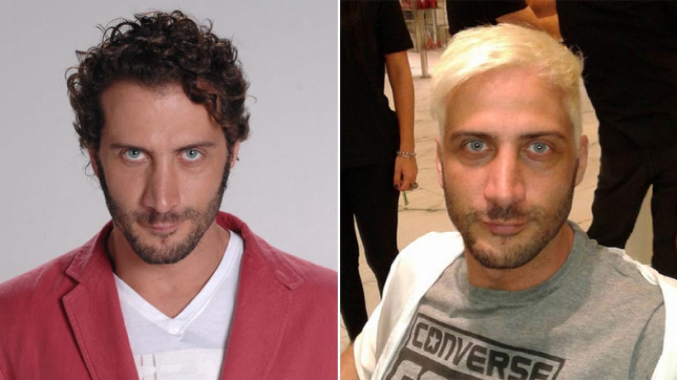Luciano Cáceres y su radical nuevo look: se tiñó el pelo de 'ice blonde'. Foto: Instagram