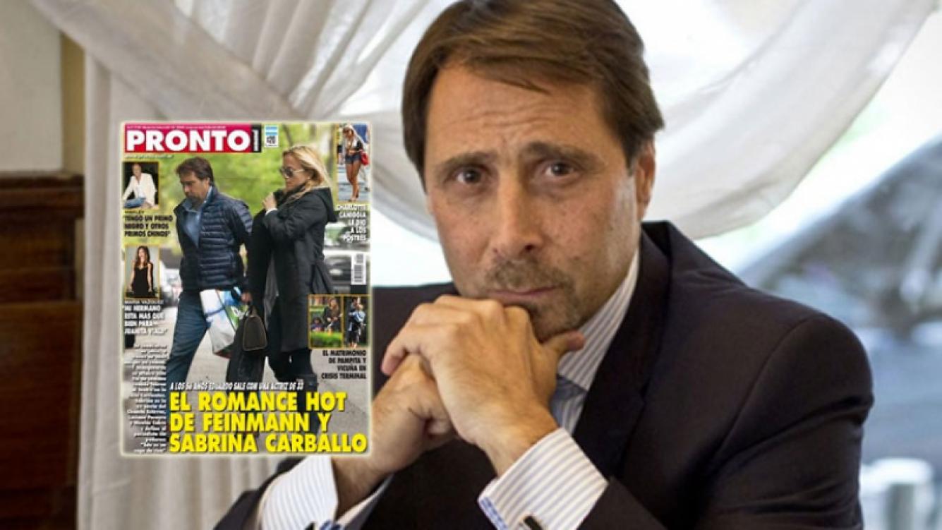 Feinmann negó romance con Sabrina Carballo (Foto: web y revista Pronto)