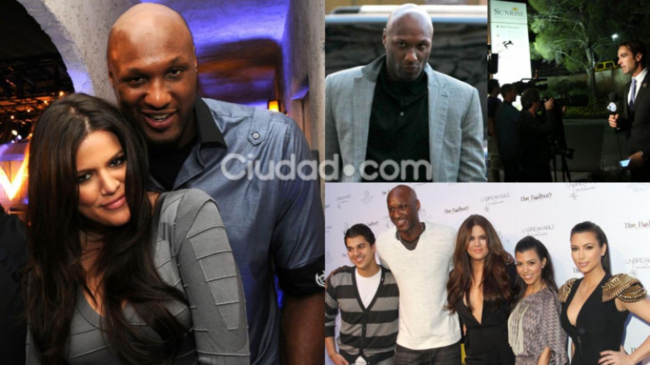 Lamar Odom, exmarido de Khloe Kardashian, internado en grave estado (Fotos: AFP).