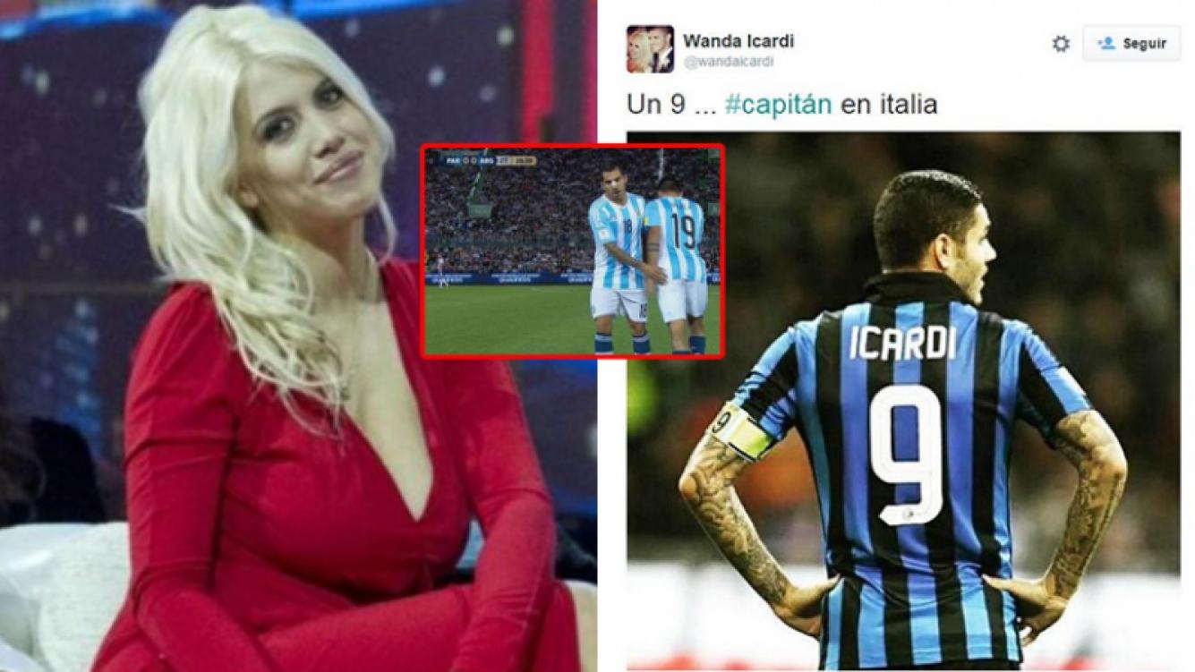Wanda Nara se metió en la polémica por la falta de gol en la Selección. Fotos: Twitter y Web.