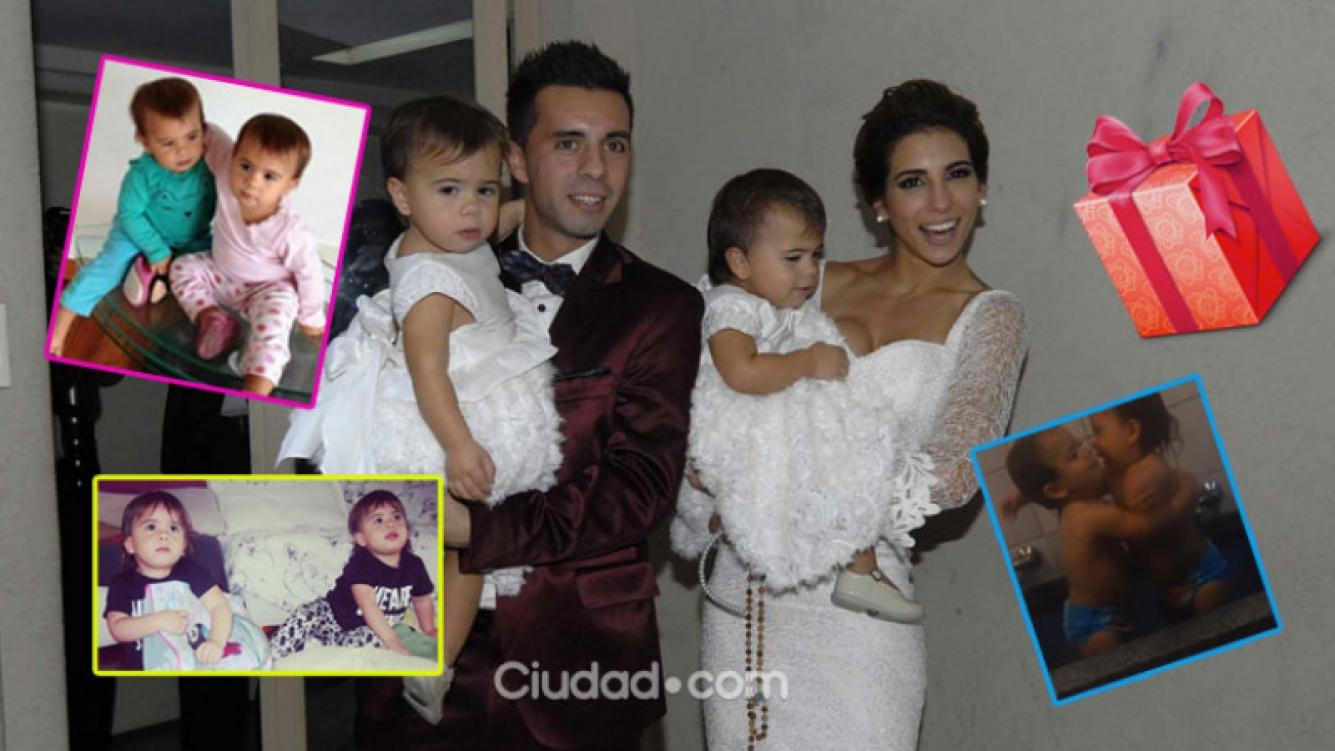 Cinthia y Defederico, felices por el cumple de las gemelas (Fotos: Archivo Ciudad.com e Instagram).