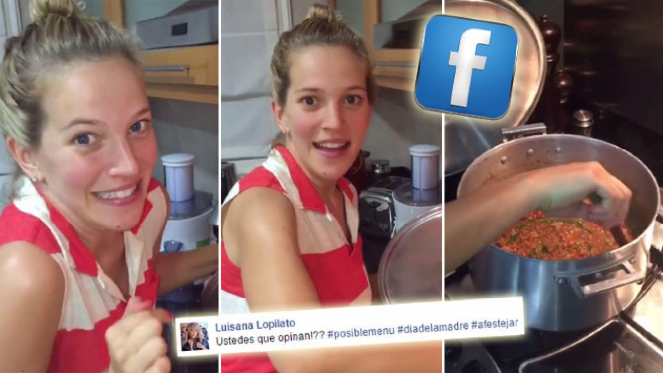 Luisana Lopilato, una cocinera de entrecasa. (Foto: captura de video)