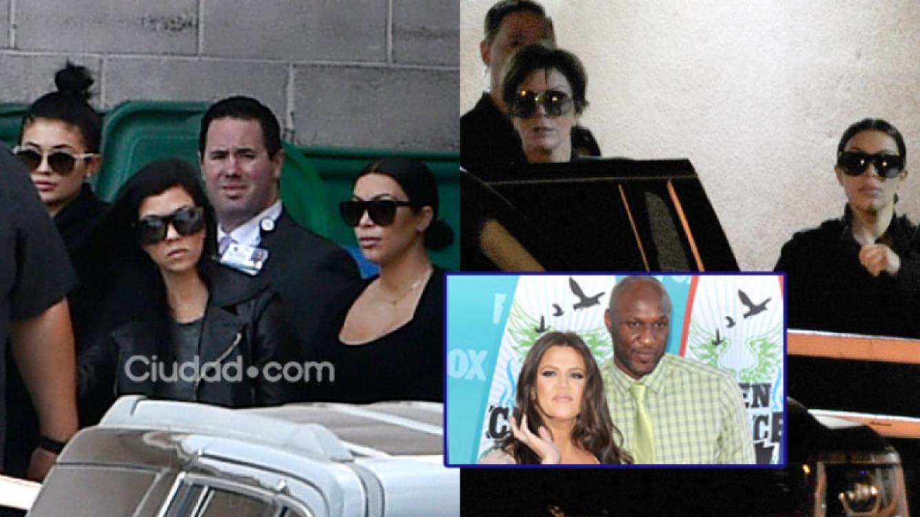 Las Kardashian junto a Lamar Odom en este difícil momento (Fotos: AFP).