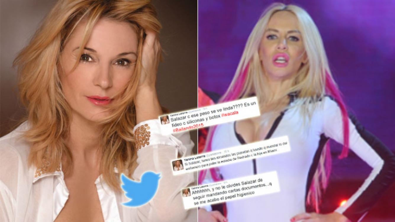 Yanina Latorre y un lapidario descargo contra Salazar (Foto: Web y Twitter)