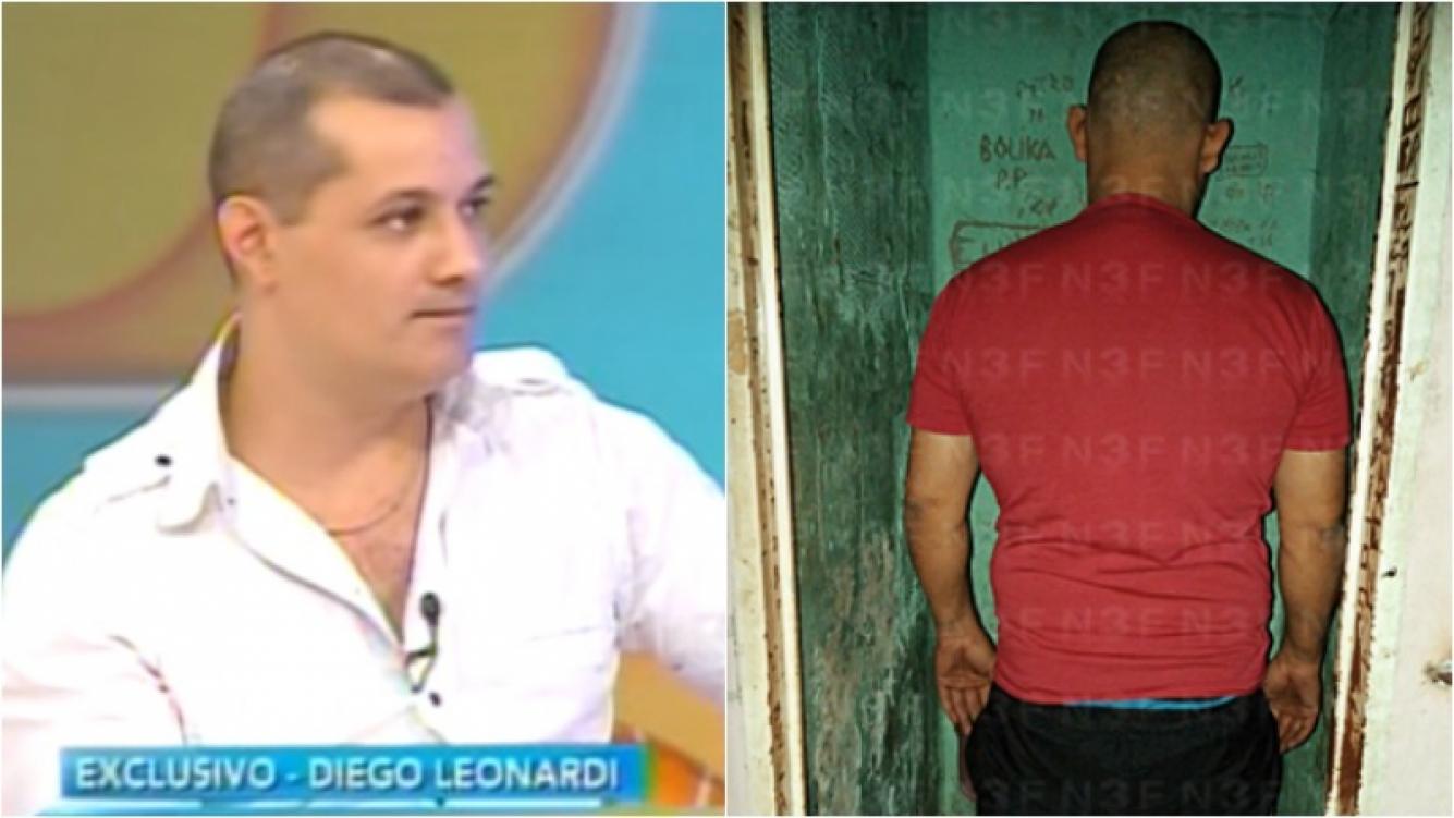 Diego Leonardi, ex participante Gran Hermano, detenido acusado de violencia de género. Foto: Captura /N3F