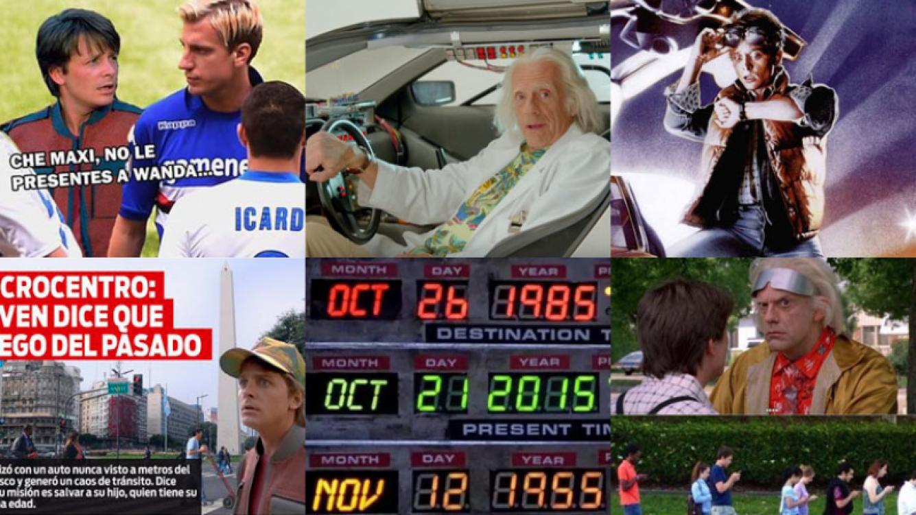 Furor entre los fanáticos de Volver al futuro por la llegada de Marty McFly (Fotos: Web).