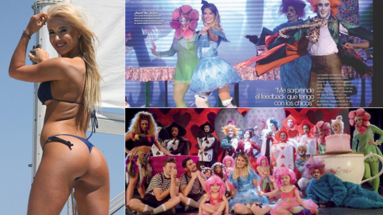 Jésica Cirio, de bomba sexy a animadora infantil. (Fotos: revista Gente y archivo Web)