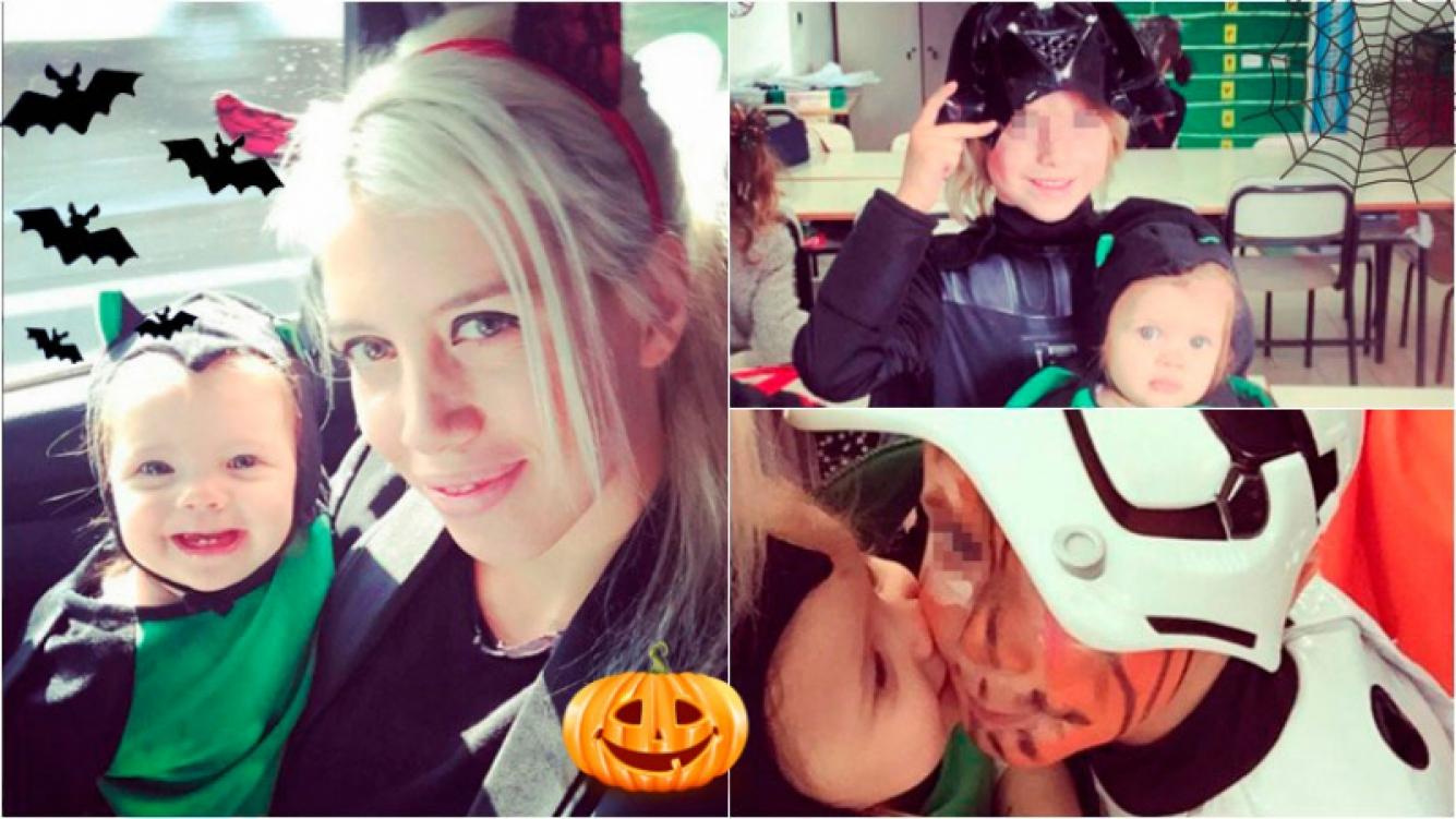 Wanda Nara y sus hijos festejaron Halloween en el colegio. Foto: Instagram