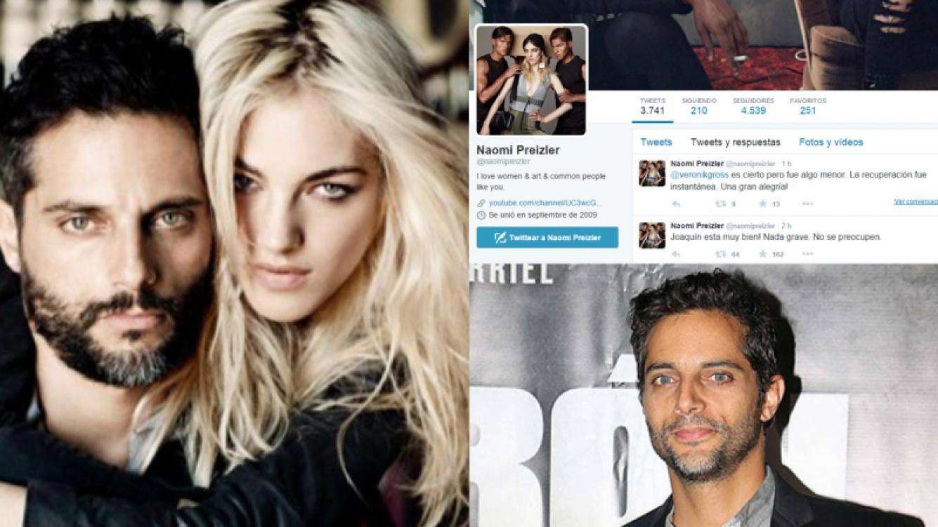 La novia de Joaquín Furriel habló de su internación. Fotos: Web y Twitter.