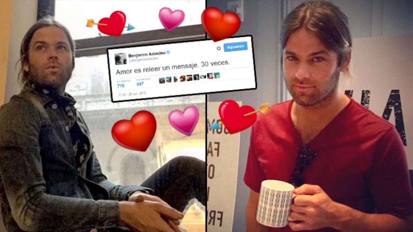 Benjamín Amadeo y un más que elocuente tweet romántico. (Foto: Instagram y Twitter)