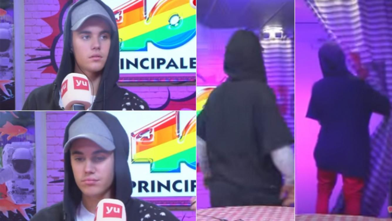 Justin Bieber se molestó y plantó una entrevista en vivo (Foto: Web)