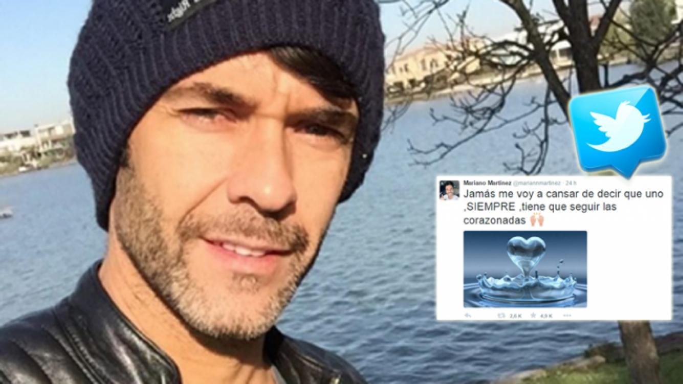 Mariano Martínez reflotó un viejo tweet romántico (Foto: red social)