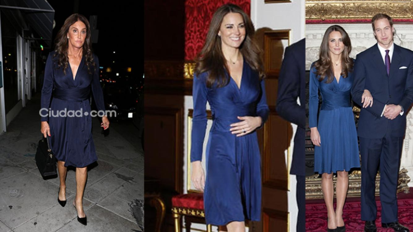 Caitlyn Jenner le copió el vestido de compromiso a Kate Middleton. Fotos: Grosby Group y Web.