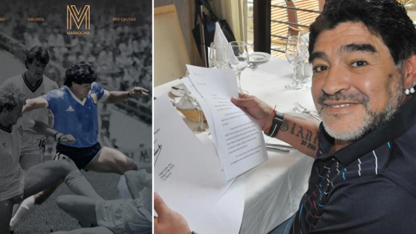 """Diego Maradona a Ciudad.com: """"No tengo Twitter"""". Fotos: www.diegomaradonaofficial.com y Web."""
