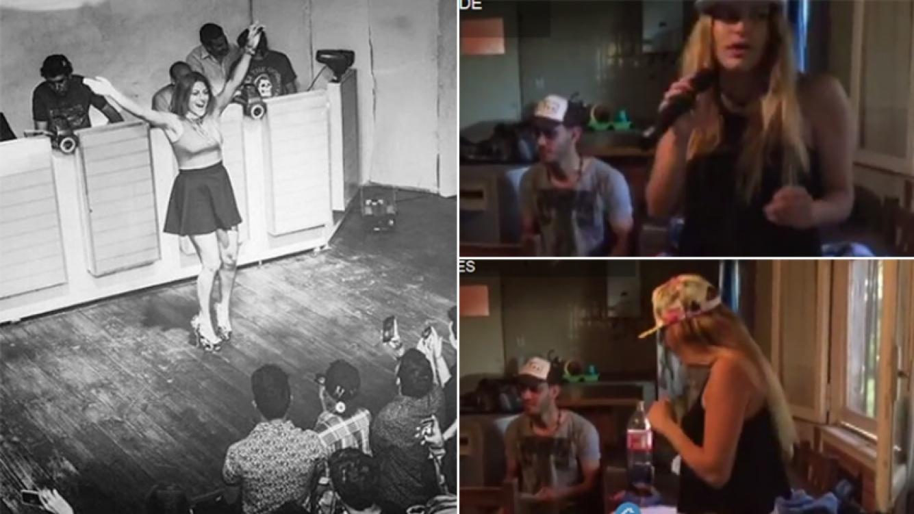 Marian Farjat mostró parte de sus ensayos con Marianba. Foto: Capturas YouTube y Web.