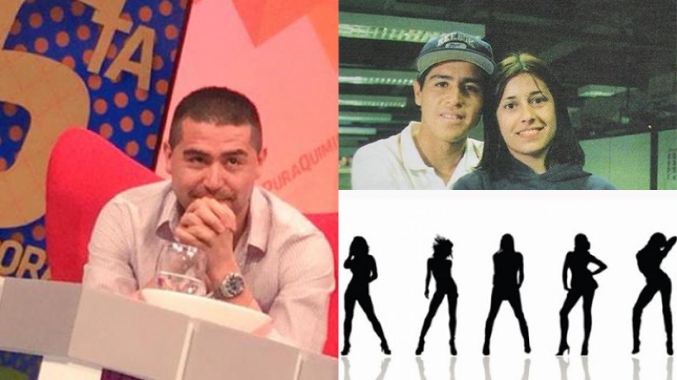 Riquelme, íntimo habló de las mujeres. Fotos: Captura TV, diario Olé y Web.