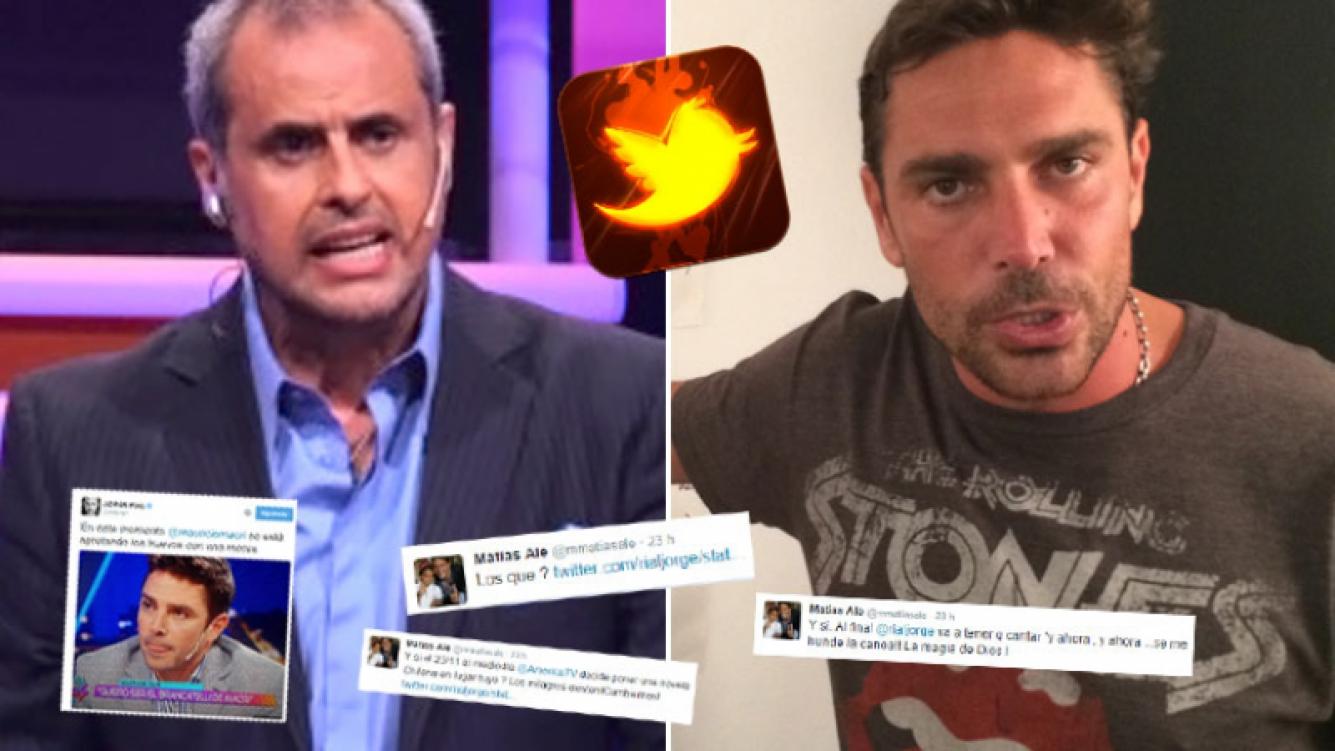 Jorge Rial y Matías Alé, picante intercambio de misiles 2.0 en Twitter. (Foto: Web)