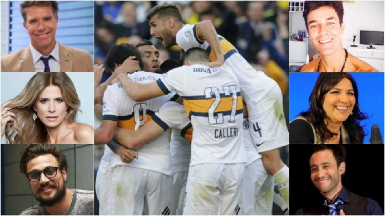 Los tweets de los famosos por el campeonato de Boca. Foto: DyN/ Web
