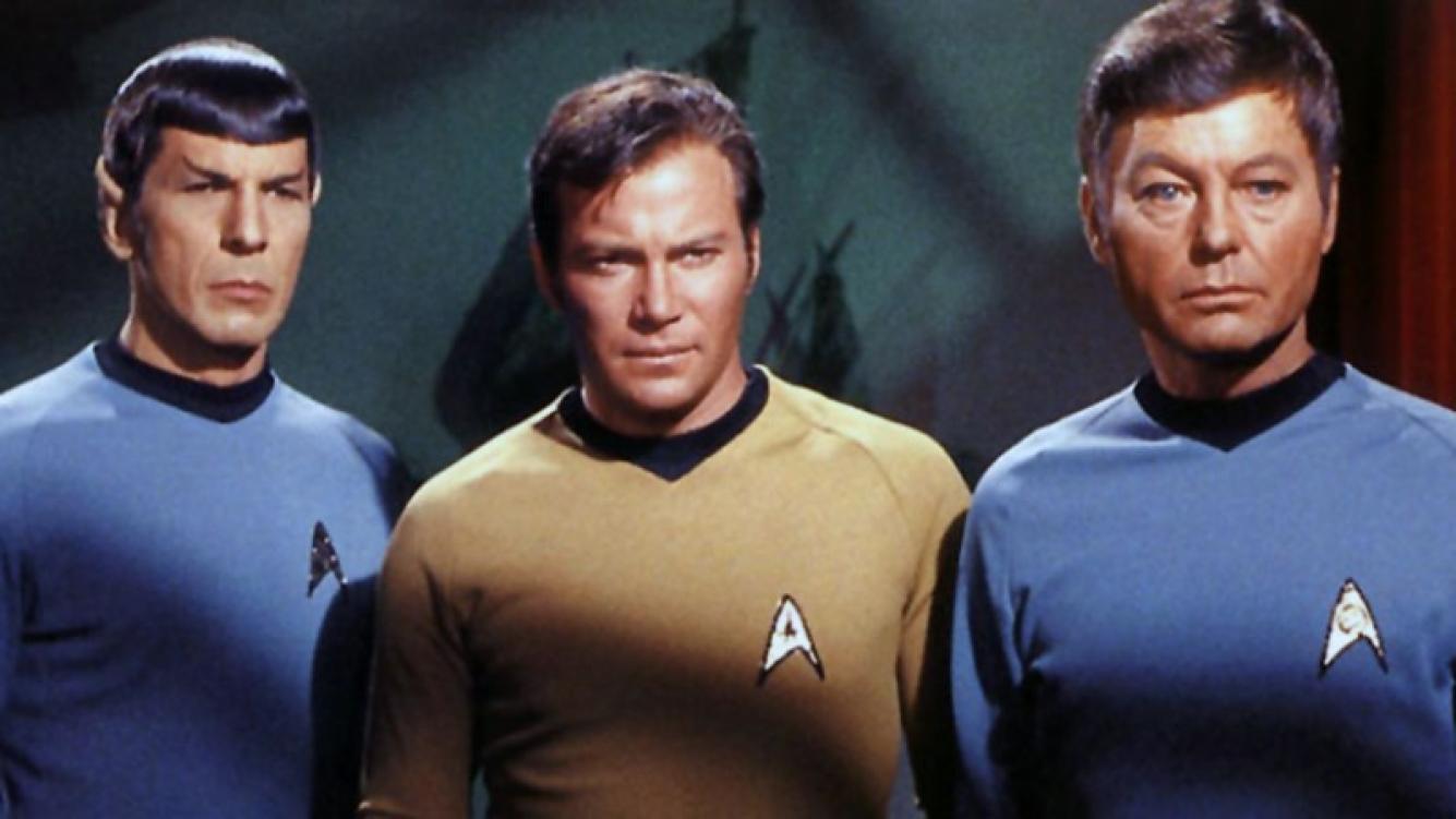 Spok, el capitán Kirk y el Doctor MaCoy, los protagonistas de Star Trek original