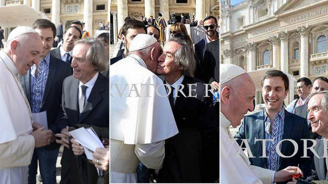 El emotivo encuentro del Papa con Carlitos Balá. Fotos: Twitter y L Osservatore Romano.