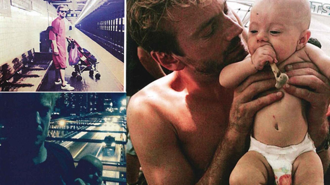 Guillermo Pfening y su hija Asia en Nueva York. Fotos: revista Caras.