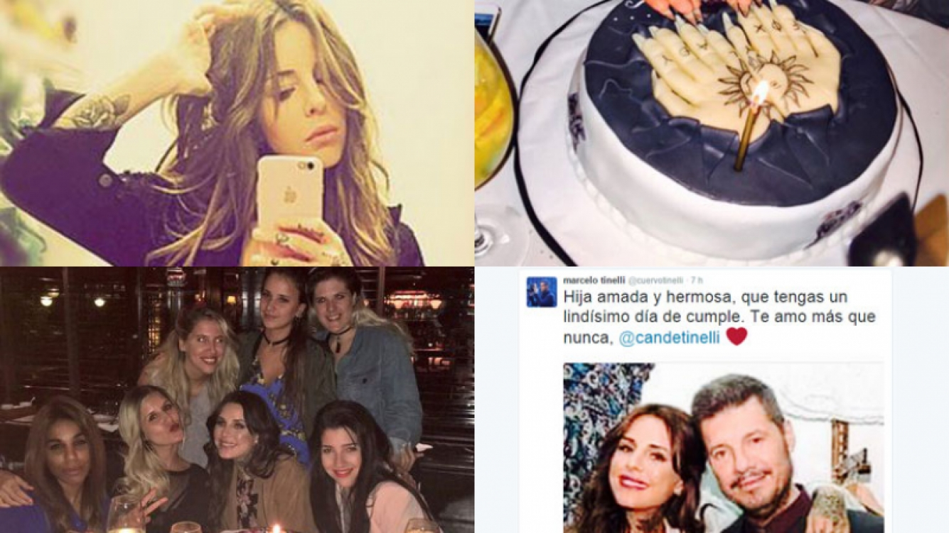 Candelaria Tinelli, feliz en su cumpleaños Fotos: Instagram y Twitter.
