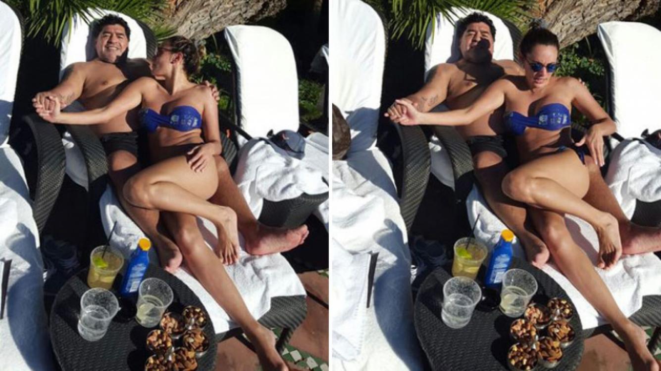 Diego Armando Maradona le prometió casamiento a Rocío Oliva. Foto: Diario Popular.