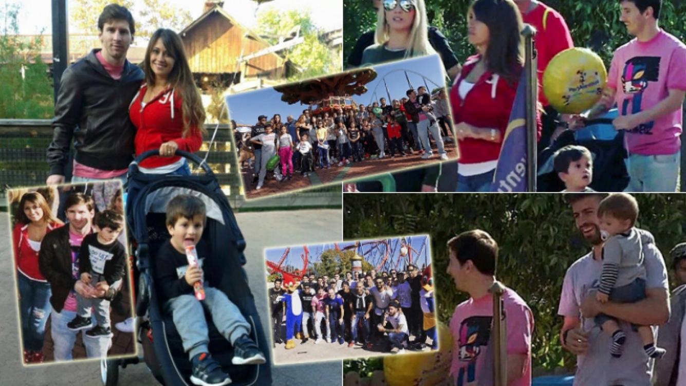 Messi y su familia en un parque de diversiones (Foto: redes sociales)