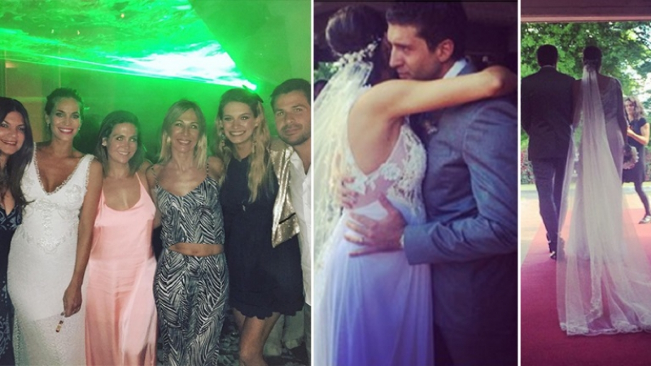 Florencia Fabiano se casó con Facundo Bullrich. Fotos: Instagram.