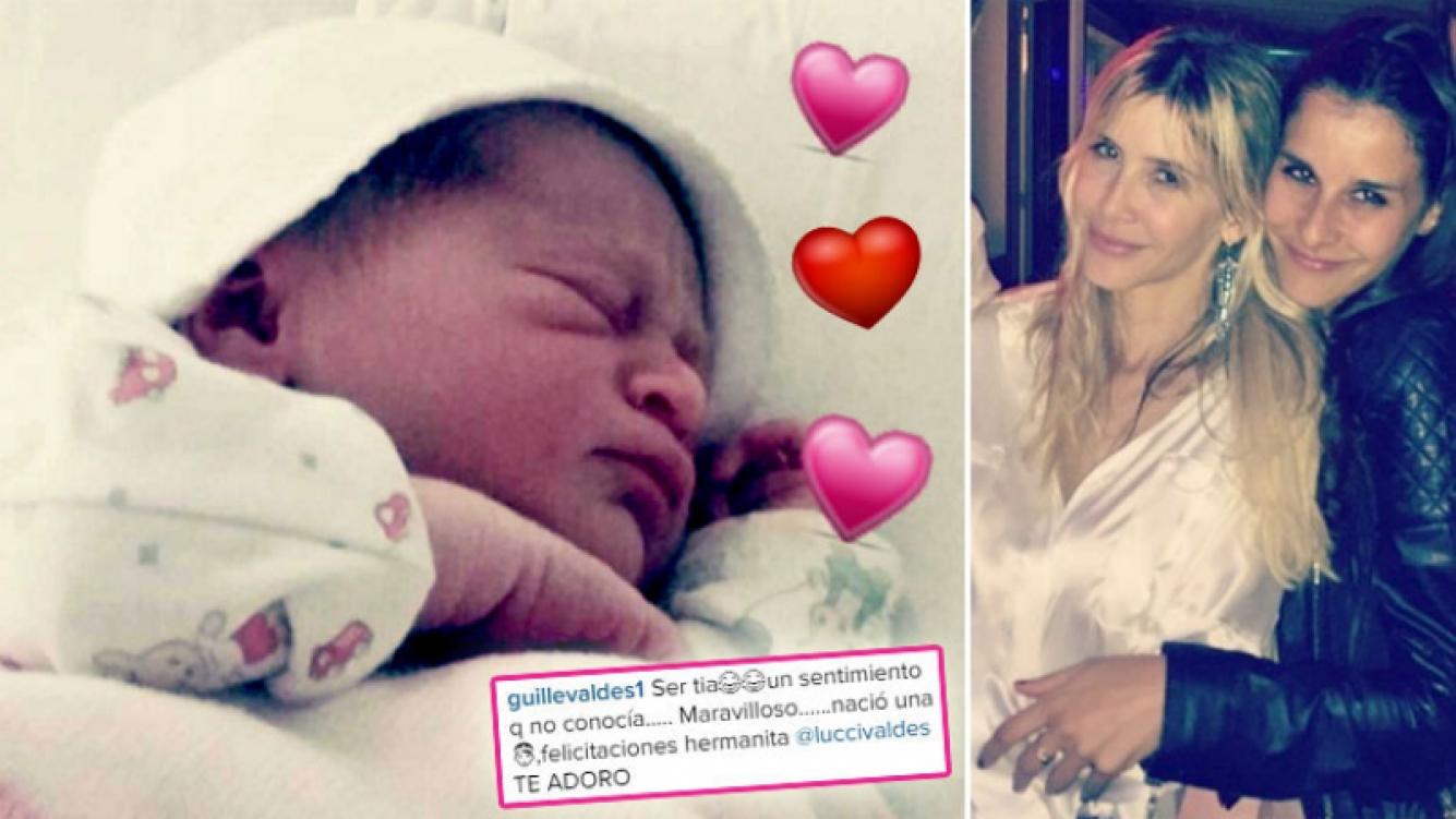 La felicidad de Guillermina Valdés por el nacimiento de su primera sobrina, Mora. (Foto: Instagram)