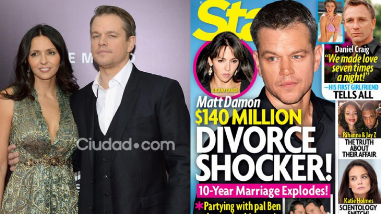 Matt Damon y Luciana Barroso, ¿a punto de divorciarse? (Fotos: AFP y Star).