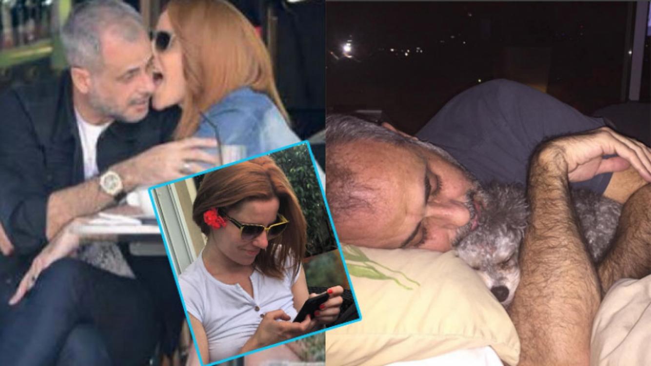 Agustina Kämpfer y una foto de la intimidad de pareja junto a Rial (Fotos: Instagram y Gente).