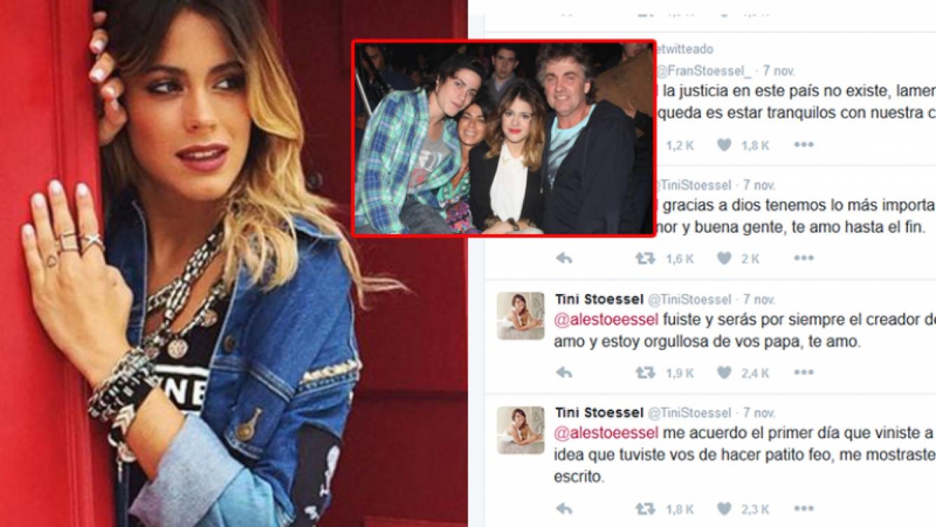 Los mensajes de Tini para su papá Alejandro Stoessel tras perder el juicio por Patito Feo. Fotos: Twitter y Web.