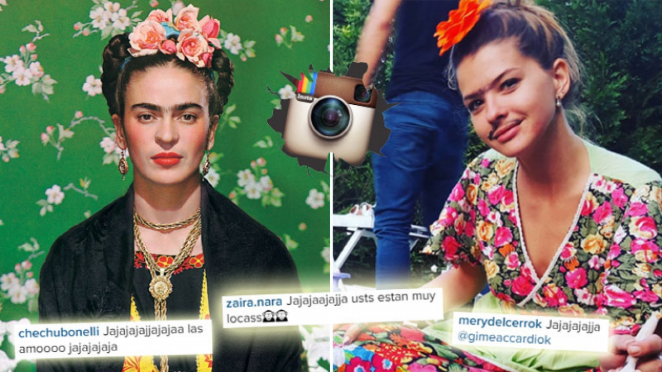 China Suárez y su divertido look a lo Frida Khalo. (Foto: Instagram)