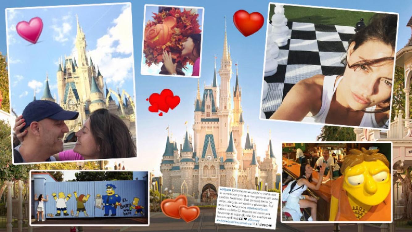 Pelado López y Jujuy Jiménez, su viaje de amor a Disneyworld. (Foto: Instagram)