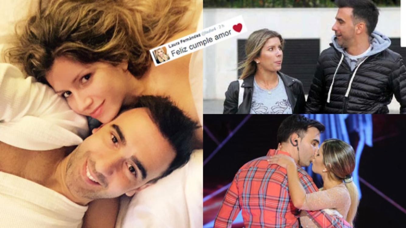 Laurita Fernández y Federico Hoppe, súper enamorados (Fotos: Twitter y Web).
