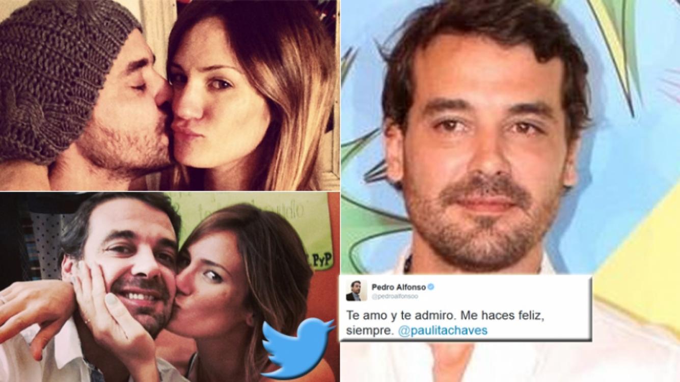 Pedro Alfonso y un emotivo tweet a Paula Chaves (Foto: Twitter y web)
