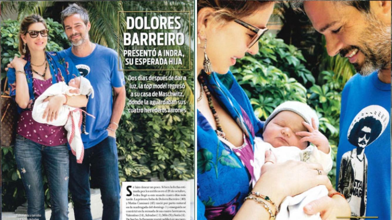 Dolores Barreiro y Matías Camisani presentaron a Indra (Foto: revista ¡Hola!)