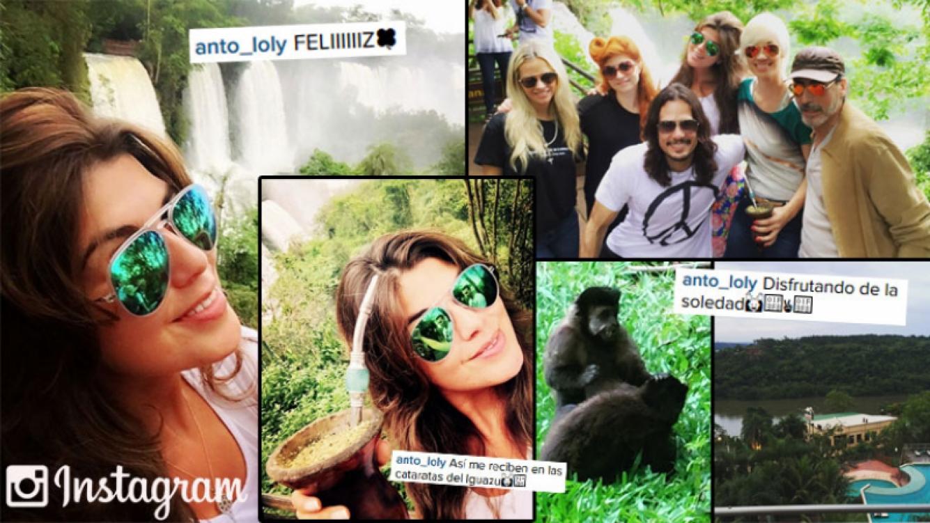 Loly Antoniale y su viaje de soltera, una diosa en las cataratas del Iguazú. (Foto: Instagram)