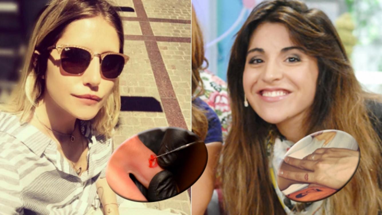 Micaela Tinelli y Gianinna Maradona tienen el mismo tatuaje (Foto: Instagram y web)