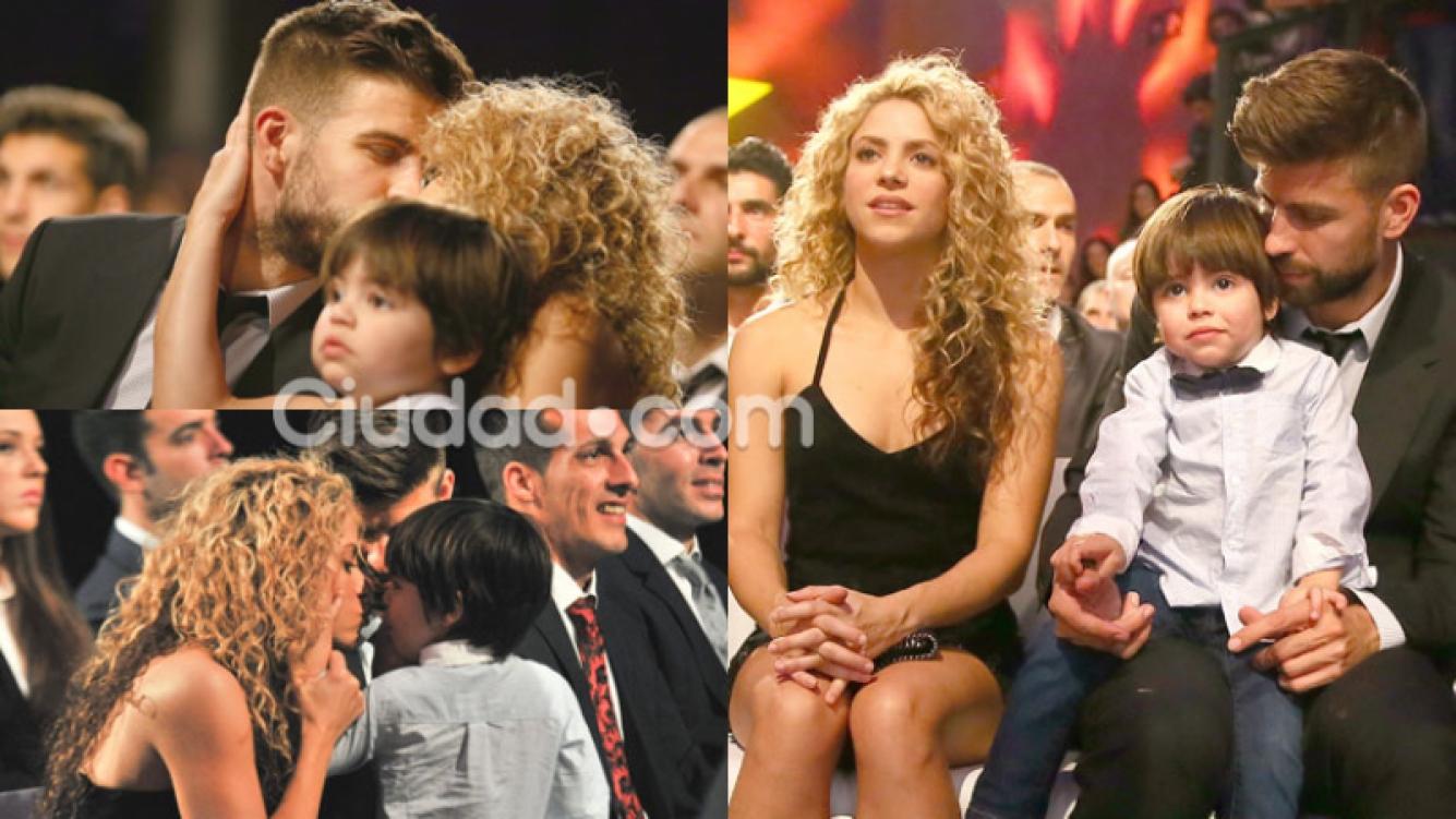 Shakira, Piqué y Milan, una familia súper dulce (Fotos: GrosbyGroup).