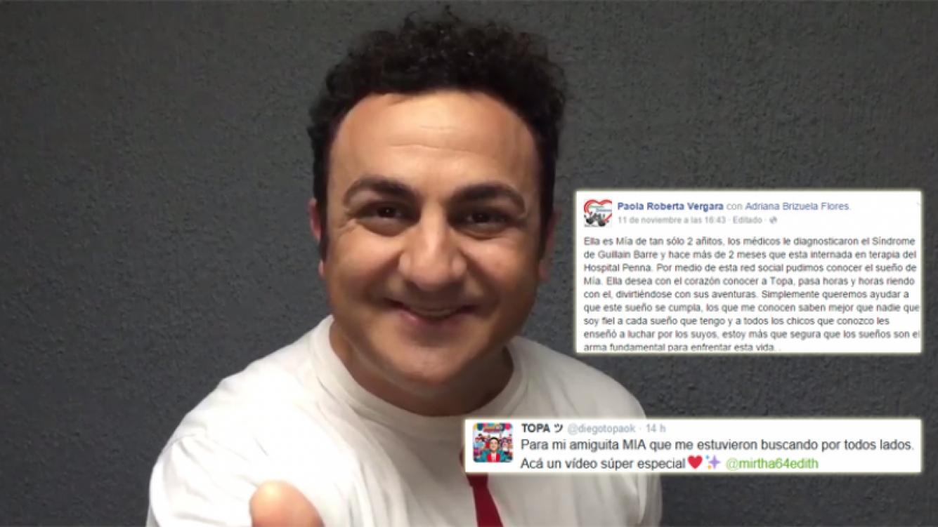 Diego Topa y un mensaje de amor para Mia (Foto: Twitter)
