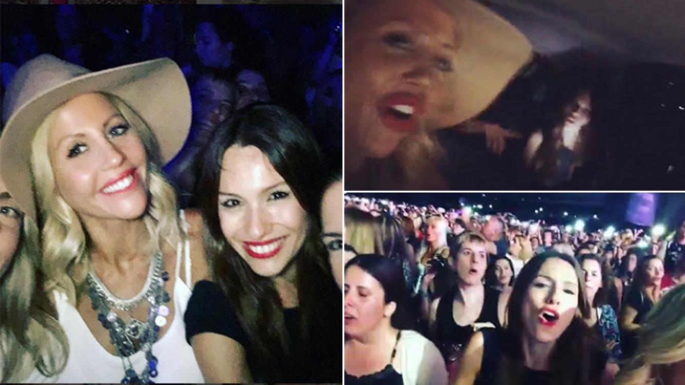 Pampita fue a ver a Enrique Iglesias con amigas. Fotos: Instagram.