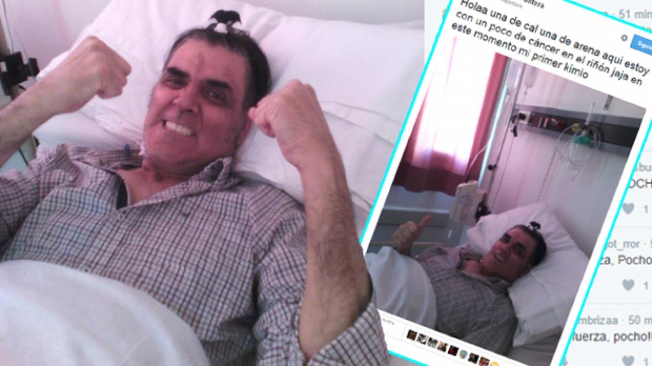Pocho La Pantera y su gran actitud para lucharle al cáncer. Fotos: Twitter
