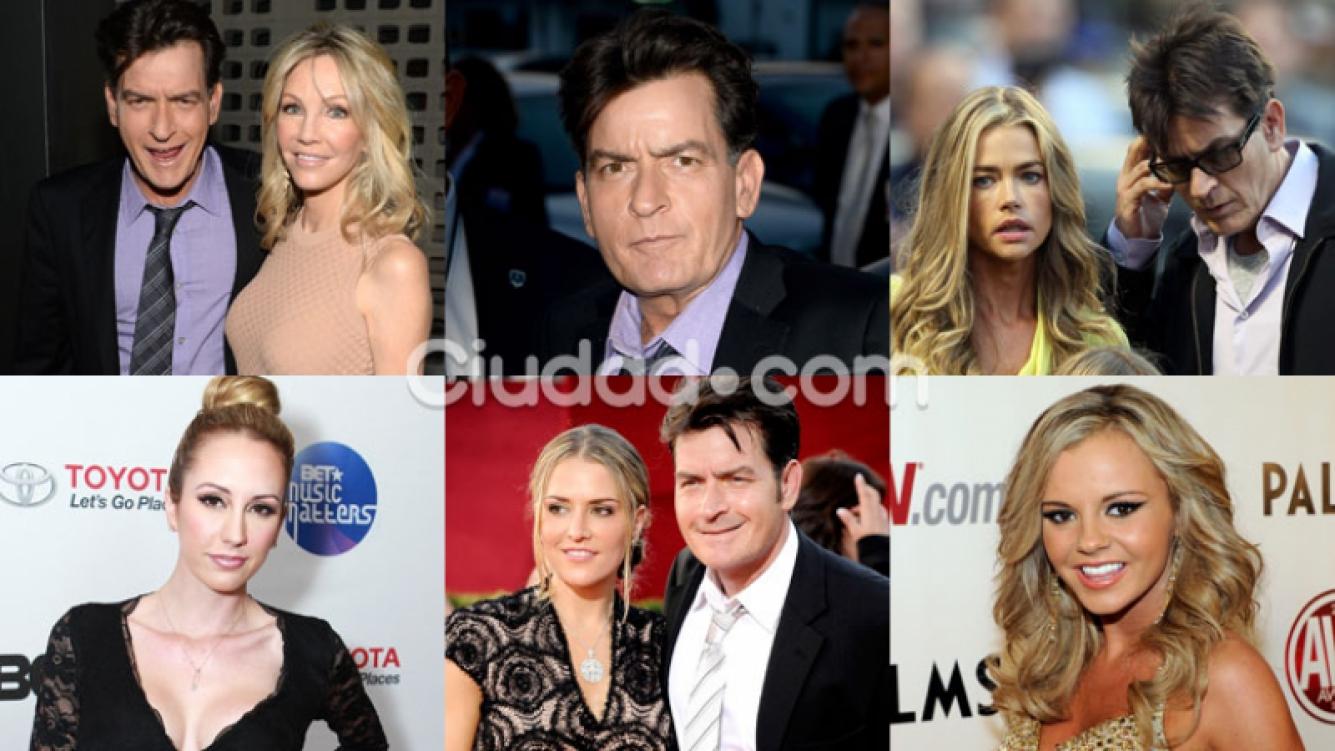 Las ex de Charlie Sheen reaccionaron luego de su revelación en TV (Fotos: AFP).