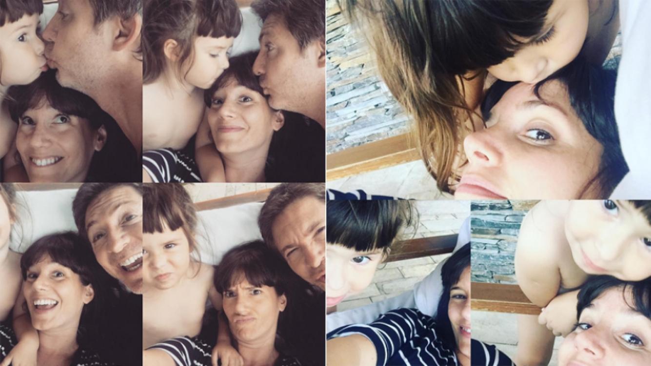 Las selfies de Griselda Siciliani con Adrián Suar y Margarita (Foto: Instagram)
