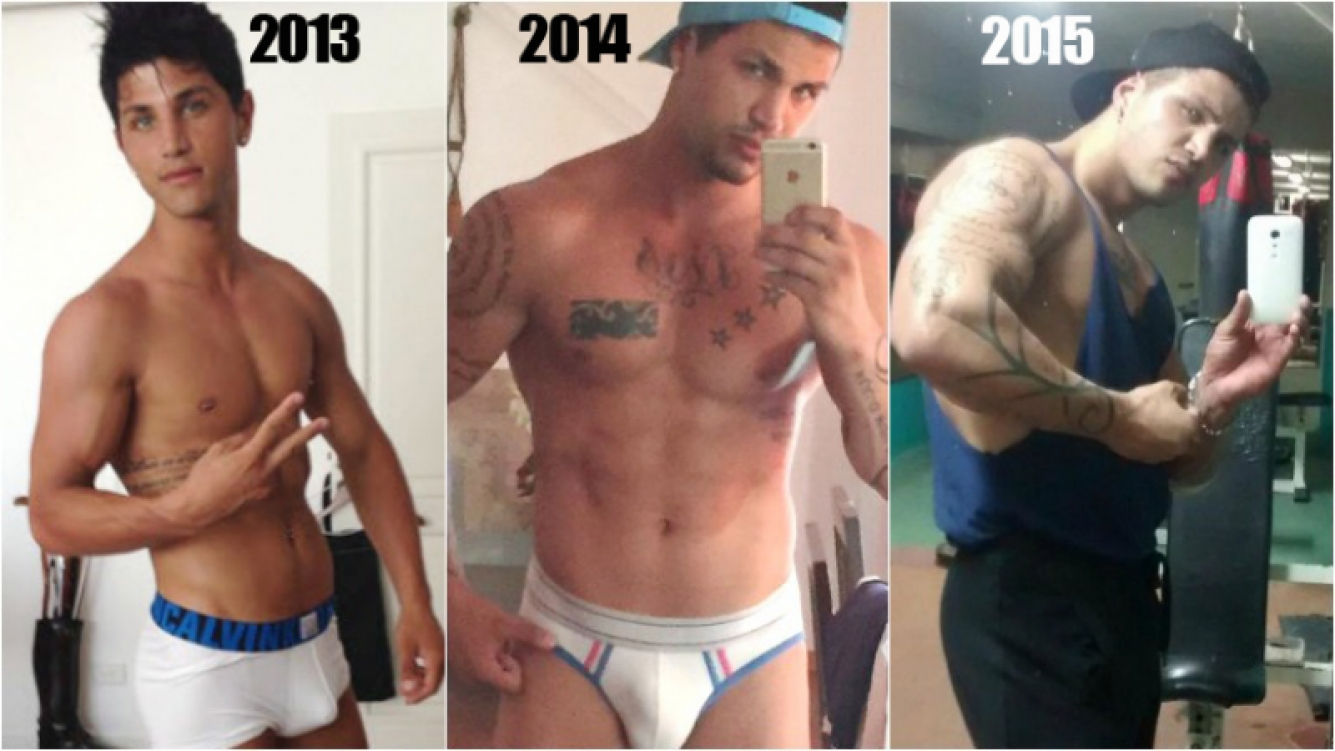 Rodrigo Díaz, el exnovio de Ricardo Fort, más musculoso que nunca. Fotos: Twitter