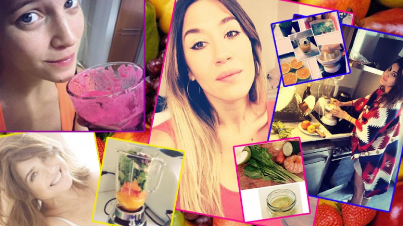 Las famosas y sus desayunos saludables. Fotos: Web e Instagram.