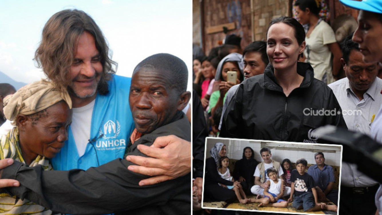 Osvaldo Laport, destacado embajador de la ONU al igual que Angelina Jolie. (Foto: gentileza ACNUR y AFP)